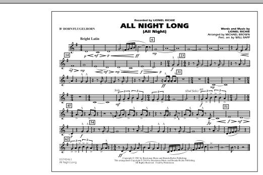 All Night Long (All Night) - Bb Horn/Flugelhorn (Marching Band)