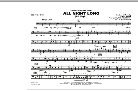 All Night Long (All Night) - Electric Bass (Marching Band)