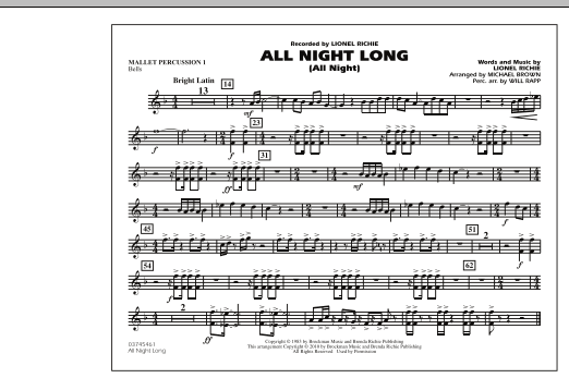 All Night Long (All Night) - Mallet Percussion 1 (Marching Band)