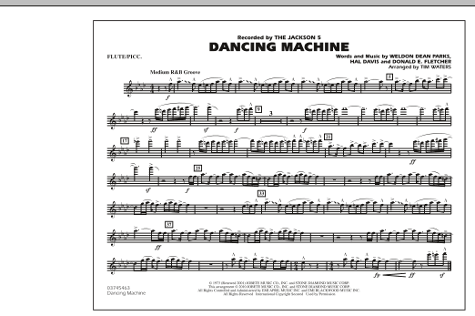 Dancing Machine - Flute/Piccolo (Marching Band)