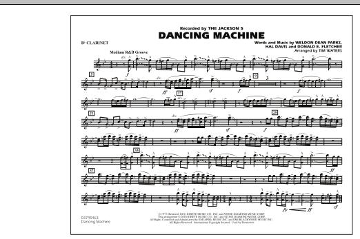 Dancing Machine - Bb Clarinet (Marching Band)