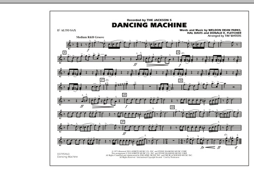 page one of Dancing Machine - Eb Alto SaxASALTTEXT