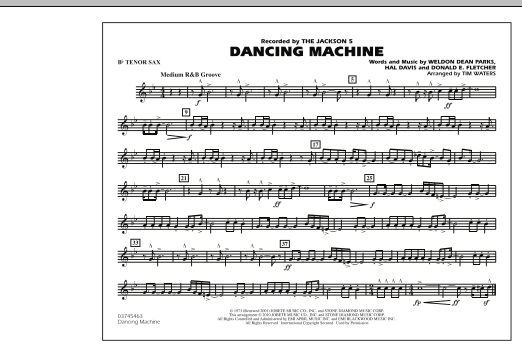page one of Dancing Machine - Bb Tenor SaxASALTTEXT