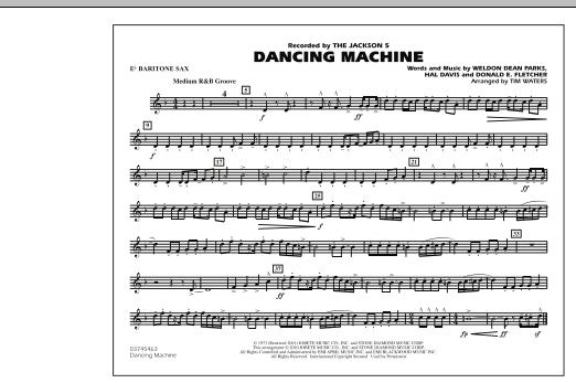 Dancing Machine - Eb Baritone Sax (Marching Band)