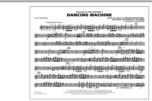 Dancing Machine - 1st Bb Trumpet (Marching Band)