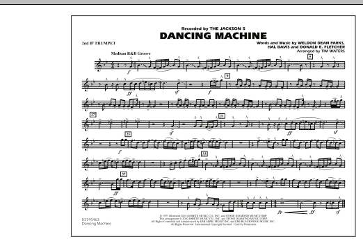 Dancing Machine - 2nd Bb Trumpet (Marching Band)