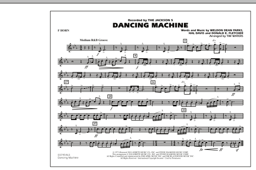 Dancing Machine - F Horn (Marching Band)