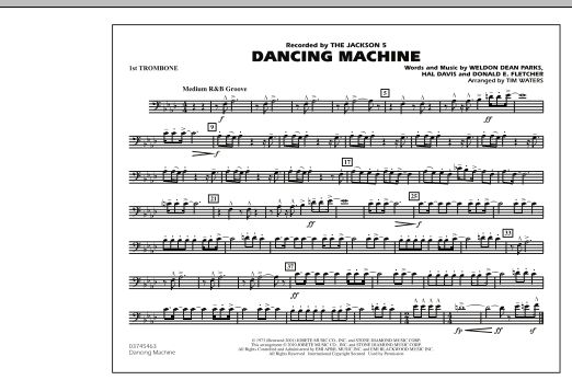 page one of Dancing Machine - 1st TromboneASALTTEXT