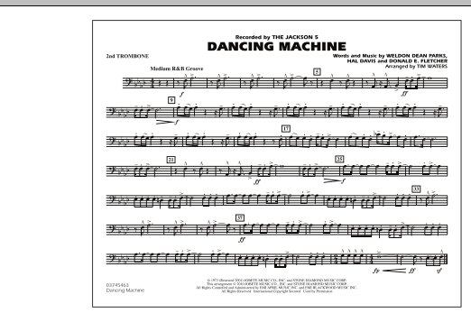 page one of Dancing Machine - 2nd TromboneASALTTEXT