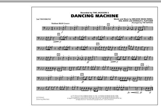 Dancing Machine - 2nd Trombone (Marching Band)