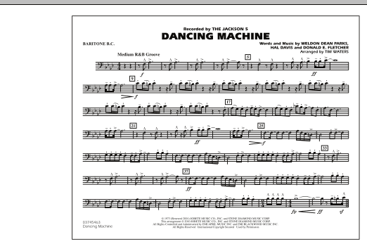 page one of Dancing Machine - Baritone B.C.ASALTTEXT