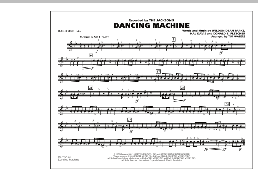 page one of Dancing Machine - Baritone T.C.ASALTTEXT