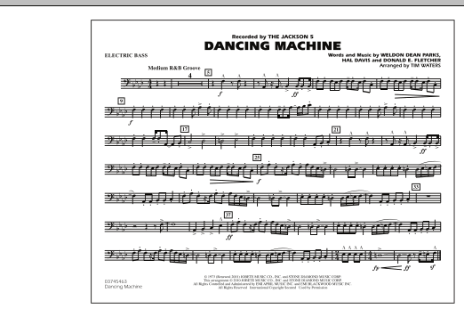 page one of Dancing Machine - Electric BassASALTTEXT