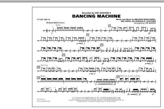 Dancing Machine - Snare Drum (Marching Band)