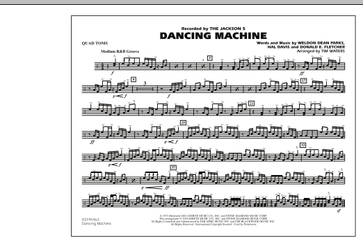 page one of Dancing Machine - Quad TomsASALTTEXT