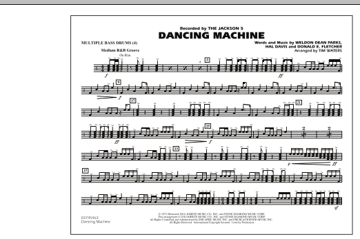 Dancing Machine - Multiple Bass Drums (Marching Band)