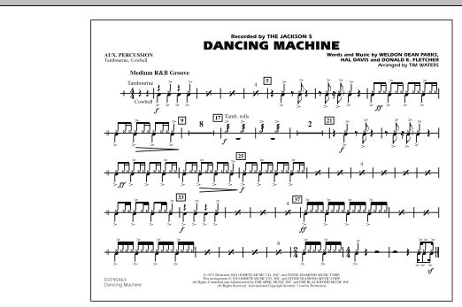 Dancing Machine - Aux Percussion (Marching Band)