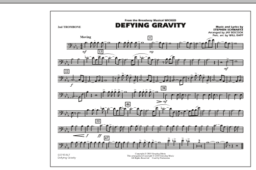 Defying Gravity (from Wicked) - 2nd Trombone (Marching Band)
