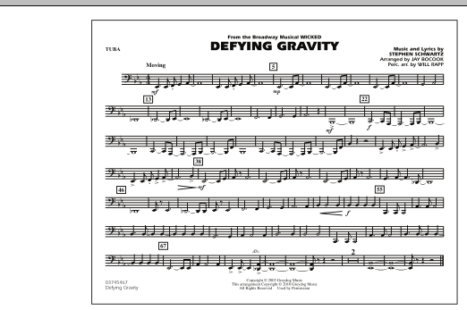 Defying Gravity (from Wicked) - Tuba (Marching Band)