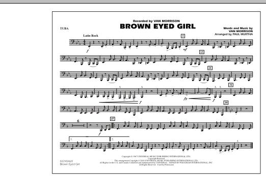 Brown Eyed Girl - Tuba (Marching Band)