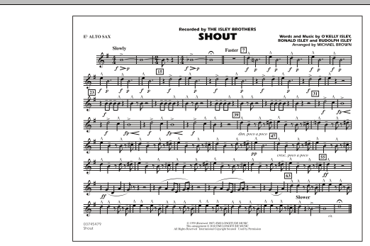 Shout - Eb Alto Sax (Marching Band)