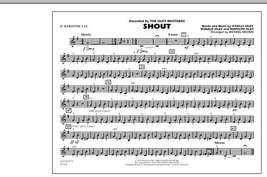 Shout - Eb Baritone Sax (Marching Band)