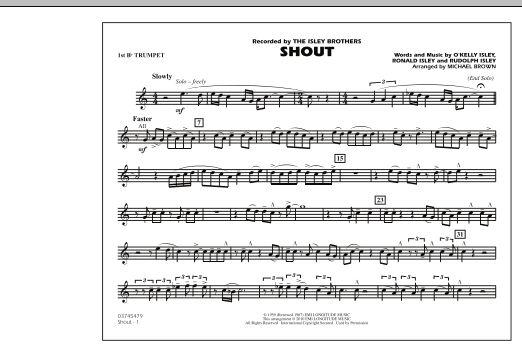 Shout - 1st Bb Trumpet (Marching Band)