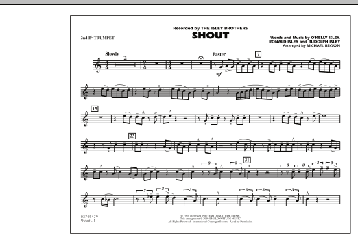 Shout - 2nd Bb Trumpet (Marching Band)