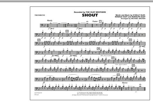 Shout - Trombone (Marching Band)