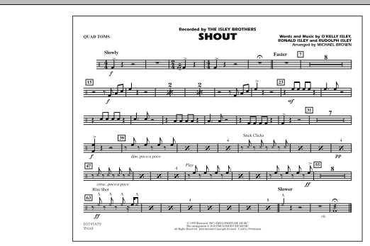 Shout - Quad Toms (Marching Band)