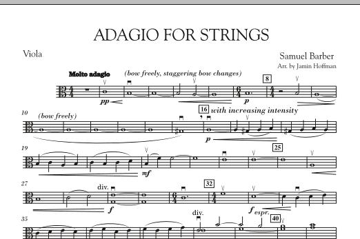 Adagio For Strings - Viola (Orchestra)