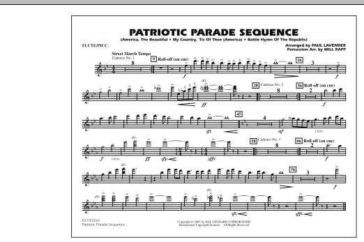 Patriotic Parade Sequence - Flute/Piccolo (Marching Band)