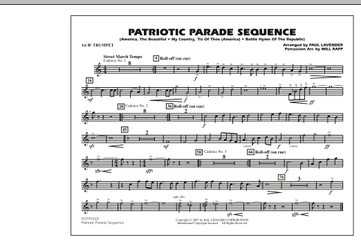 Patriotic Parade Sequence - 1st Bb Trumpet (Marching Band)