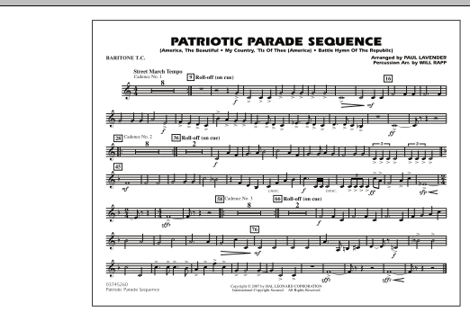 Patriotic Parade Sequence - Baritone T.C. (Marching Band)