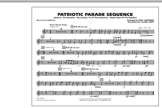 Patriotic Parade Sequence - Bells/Xylophone (Marching Band)
