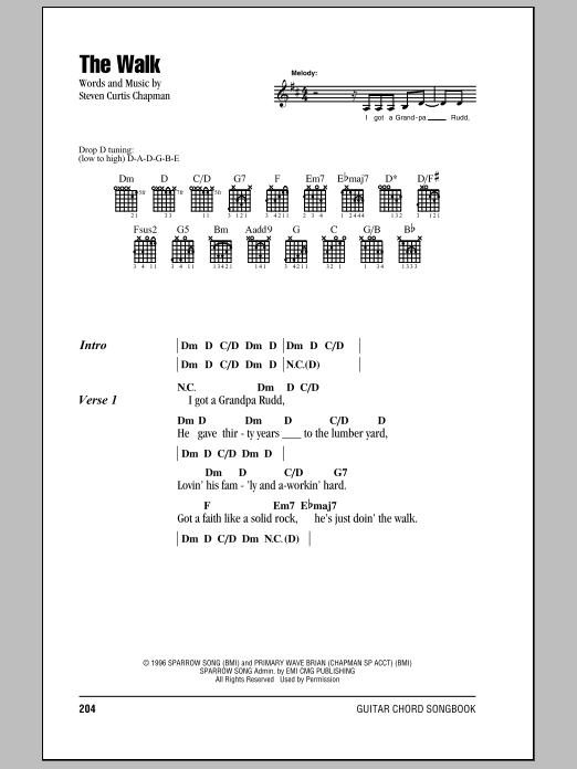 The Walk Sheet Music