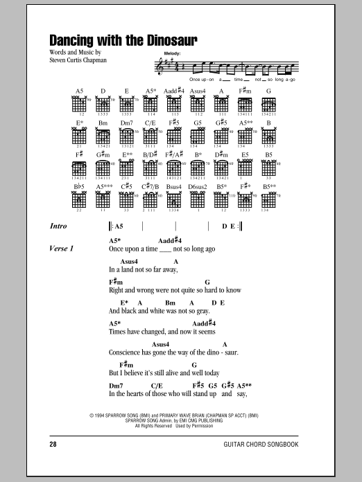 Dancing With The Dinosaur Sheet Music