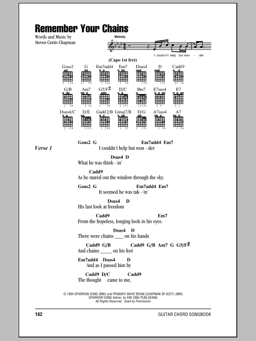Remember Your Chains Sheet Music
