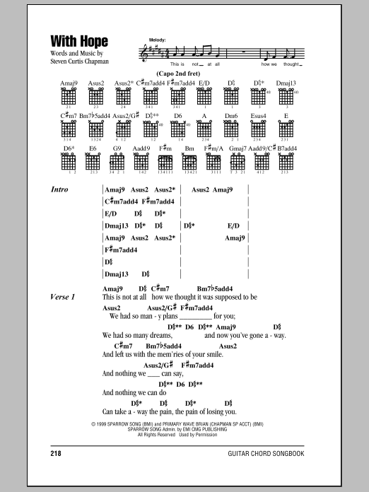 With Hope Sheet Music