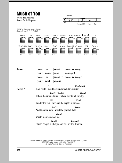 Much Of You Sheet Music