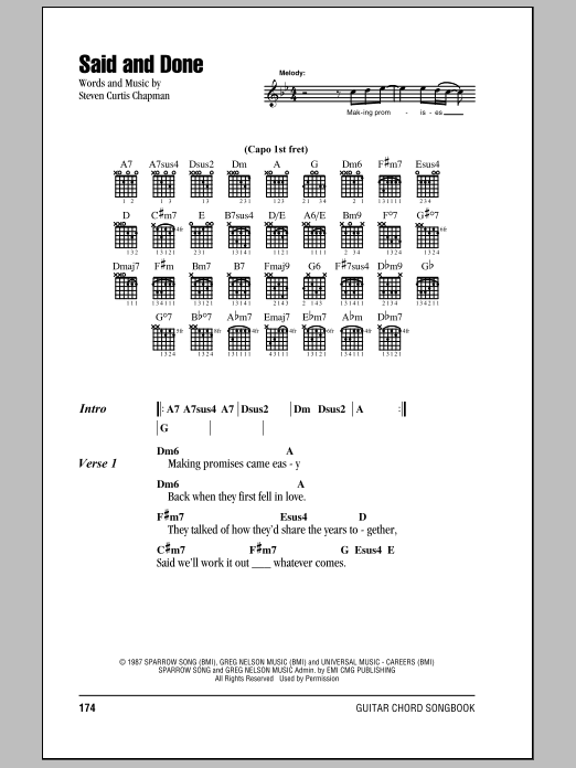 Said And Done Sheet Music