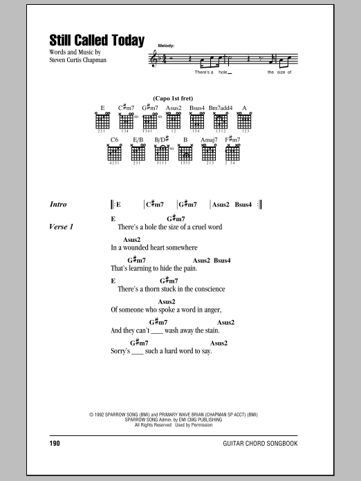 Still Called Today Sheet Music