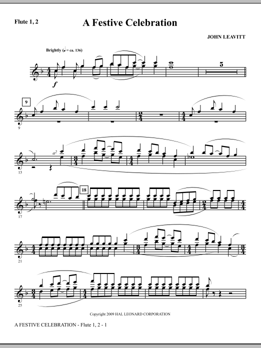 A Festive Celebration - Flute 1 & 2 (Choir Instrumental Pak)