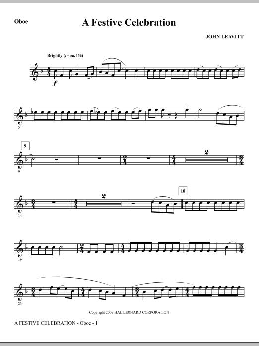 A Festive Celebration - Oboe (Choir Instrumental Pak)