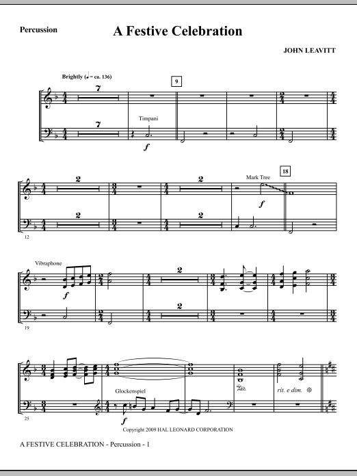 A Festive Celebration - Percussion (Choir Instrumental Pak)