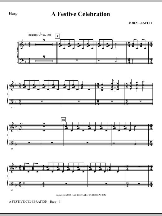 A Festive Celebration - Harp (Choir Instrumental Pak)