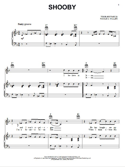 Shooby (Piano, Vocal & Guitar (Right-Hand Melody))