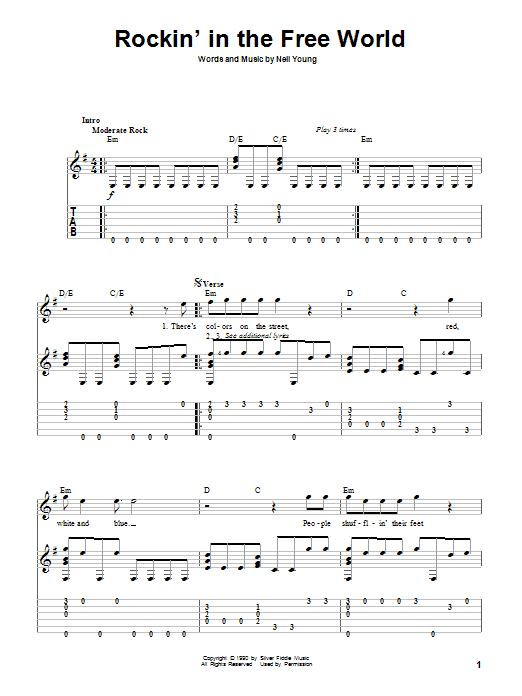 Rockin' In The Free World (Solo Guitar)