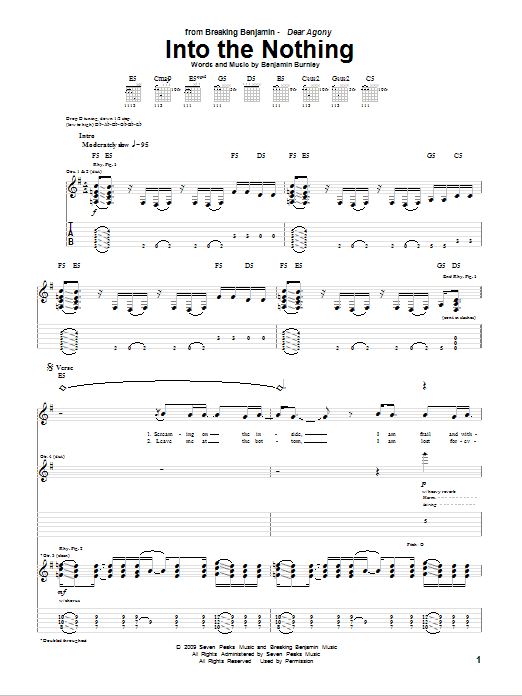 Into The Nothing Sheet Music