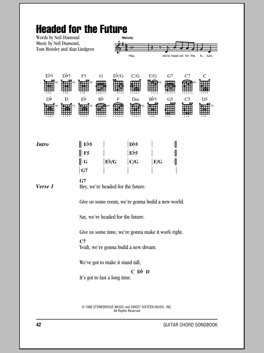 Headed For The Future Sheet Music